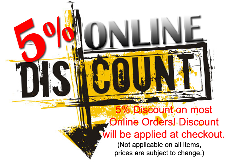 5% online discount coupon